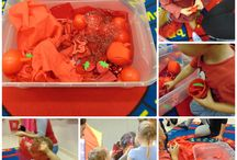 Sensory play and activities for the colour RED / Sensory play and activities for babies and toddlers for the colour RED!