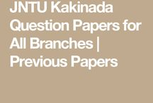 JNTUK Question Papers