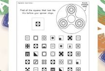 Fidget Spinner Worksheets
