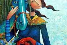 Pintura oriental, mongolia etc