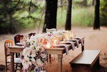 Wedding tables - outdoor