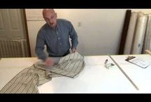 How to make a kick pleated arched valance pattern / An easy to follow method for making a kick pleated arched valance pattern  for your window.