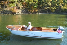 Wood boats / I restored a 1959 Cadillac wood boat.  The board cover photo is my boat (2011).   RB / by Randy Bordner