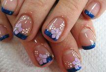 uñas.diseño azul