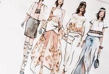 Dibujos de diseño de moda