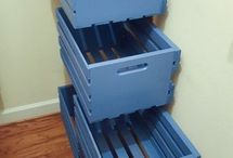 Storage drawer slides to the wall