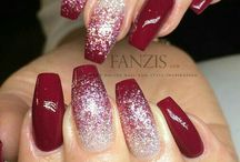 Nageldesign glitzer