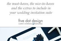 Five Dot Design | Blog / Blog, wedding stationery, custom invitations and wedding gifts, graphic design.