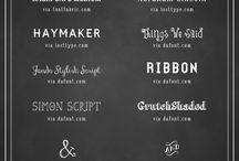 Polices de caractères / Fonts
