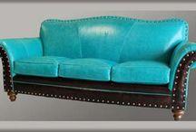 leather sofa western