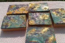 Treasure of the Incas soap, cold process, handmade, swirl, colorful