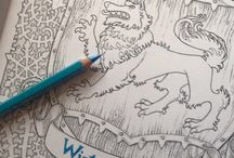 Game od thrones coloring book
