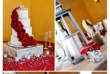 Red/Burgundy Color Schemes / Red - the universal color of love. Use it as a bold primary color or incorporate it in the small details. Either way, it's sure to add a real vibrancy to your big day.