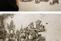 Pen Drawings / Inspirational drawings made with pen.