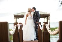 Orlando Magazine Wedding Feature / Carlos and Clare's blue and yellow lakeside wedding featured in Orlando Magazine.