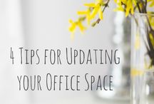 Workspace Love / Inspiring ideas for creating the perfect workspace whether you're a creative working from home or have a studio or office - it's all about setting it up to make you feel good at work