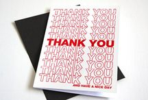 Cute Thank You Cards / Funny And Simple Thank You Cards. Sure to appeal to everyone.