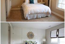 wainscoting master bedroom