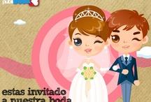 Postales de boda / Tiernas y originales postales de boda, para felicitar a los novios, para invitar a tu boda, para pedir que se case contigo... Elige la tuya...