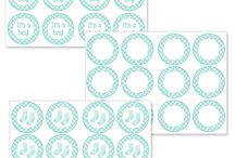 free printable blue baby shower cupcake toppers
