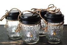Quilted Mason Jars