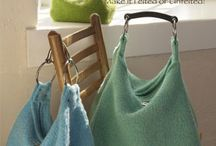 Knit felted bags