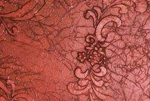 Patricia . Tecnicas  de arte . / Como trabajar con diferentes materiales para texturizar .