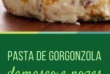 Pasta de gorgonzola, nozes