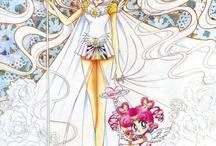 Sailor Cosmos and Sailor chibi chibi Moon