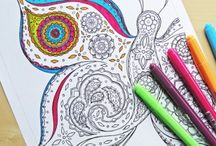 Coloring in pages