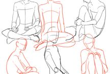 Dessins : Position assise