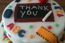 Teacher thank you cakes