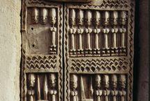 African Carved Wood Doors