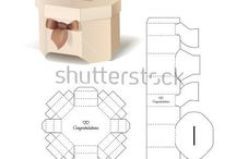 caixinhas moldes