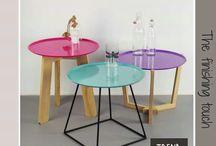 Nº Zes tafeltjes van Trend100.nl / Bijzettafeltjes van Trend100.nl zijn van hoge kwaliteit en duurzaam geproduceerd in Nederland. De tafeltjes kunnen in allerlei kleuren en samenstellingen.