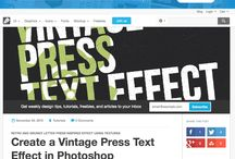 Photoshop Tutorials (Typography & Effects)