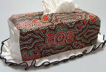 Aboriginal designed Tissue Box Covers / Aboriginal designed Tissue Box Covers
