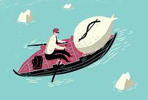 Øivind Hovland / Illustration, conceptual, editorial, advertising, stylized, whimsical, Oivind Holland, Richard Salzman, Salzmanart.com