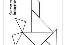 hry s tangramom a s geometrickými tvarmi,legom