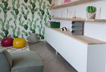 Green natural rooms
