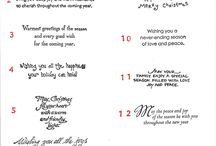 Christmas cards-words