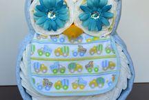 Owl diapet cake
