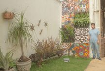 ceramic murals / Panel, ceramic vitrified, vertical garden