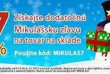 Získajte dodatočnú Mikulášsku zľavu 7% na tovar na sklade na www.market24.sk/na-sklade/ / Získajte dodatočnú Mikulášsku zľavu 7% na tovar na sklade na www.market24.sk/na-sklade/ Platí pre objednávky od 2.12 do 6. 12. 2015 na tovar na sklade. Zľava bude uplatnená v zaslanej faktúre.  Nutné uviesť do poznámky v objednávke kód: MIKULAS7 Neplatí pre tovar v akcii týždňa, mesiaca a LEGO.  Na výber viac ako 6000 položiek u nás na sklade.