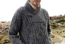 casacos de tricô masculinos