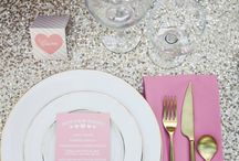 """Client Inspiration Board: Brunch with the Bride / """"Bridal Brunch"""" silver sequins, white, glamour, Mimosas"""