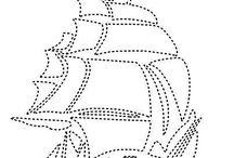 Çivi sanatı filografi şablonu