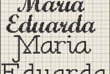 Nomes em ponto cruz feminino