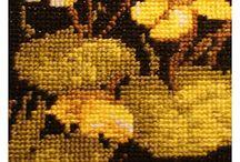 Haft krzyżykowy - kaczeńce / haft krzyżykowy