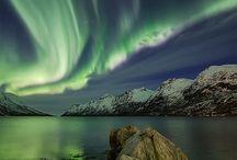 AURORES BOREALES - ARC.EN.CIEL  RAINBOW / Une splendeur de la nature que j'aimerai observer par moi-même